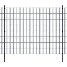 vidaXL 2D Garden Fence Panels & Posts 2008x1630 mm 10 m Grey