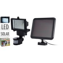 Outdoor Solar Power Motion Sensor Garden Floodlight 60 LED Security Light