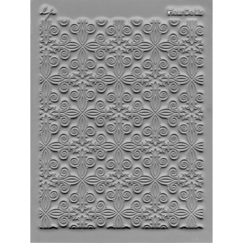 "Lisa Pavelka Individual Texture Stamp 4.25""X5.5""-Fleur De Lis"