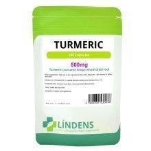 Lindens Turmeric Root Extract 500mg 100 Capsules Curcumin Curcuma Supplement