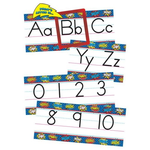 Teacher Created Resources TCR5846 Superhero Alphabet Line Bulletin Board Set