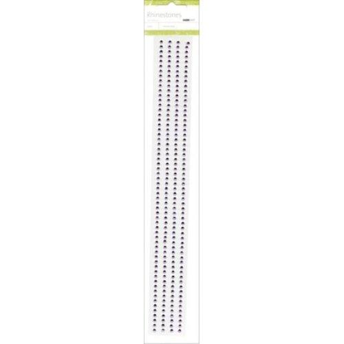 Self-Adhesive 3mm Rhinestone Strips 12 in. 4- Pkg-Lilac