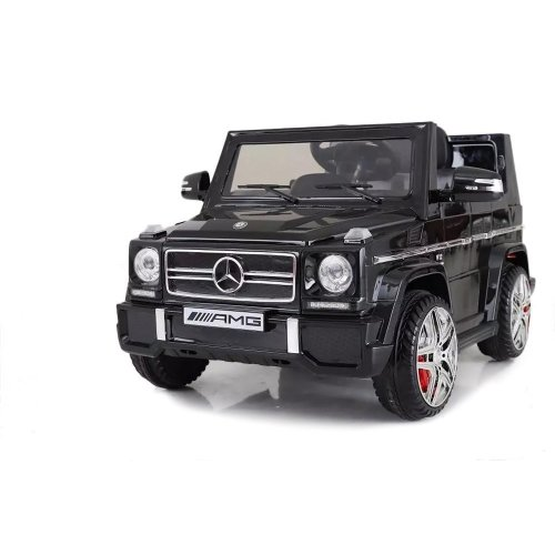 Licensed Mercedes-Benz G65 12V Kids Electric Ride On Car Four Wheels Suspension LED Lights Horn Sound MP3 Player Colour Black Ages 3-8 Years