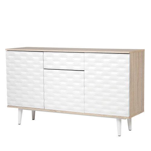 Sideboard White and Light Wood SWANSEA