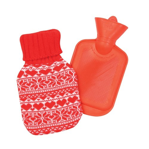 Christmas Shop Hot Water Bottle With Fairisle Christmas Cover