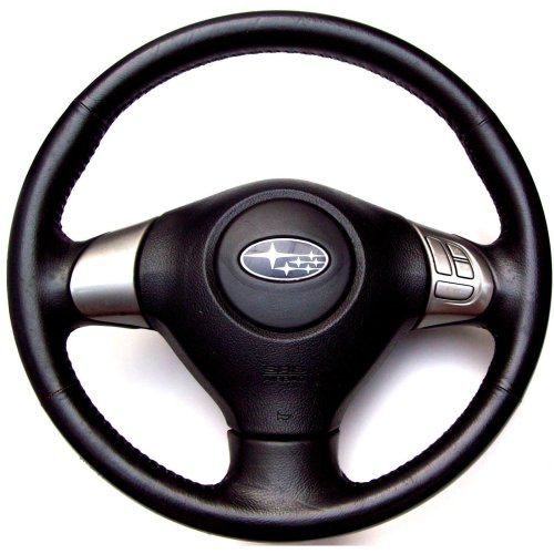 Subaru Outback 2007 Black Leather Steering Wheel + Cruise Controls