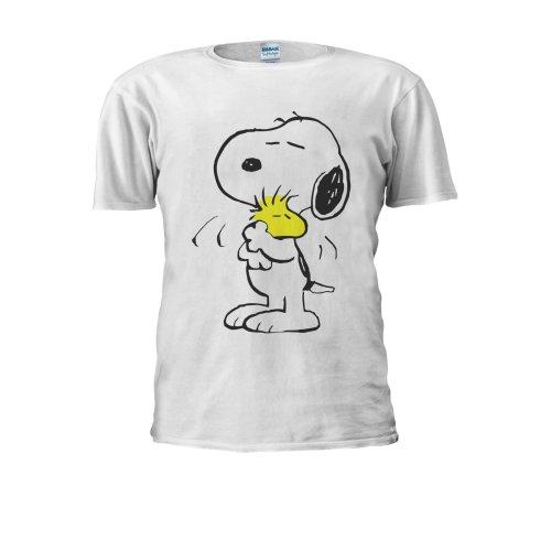 Snoopy PEANUTS Cartoon Happy Cute Men Women Unisex Top T Shirt