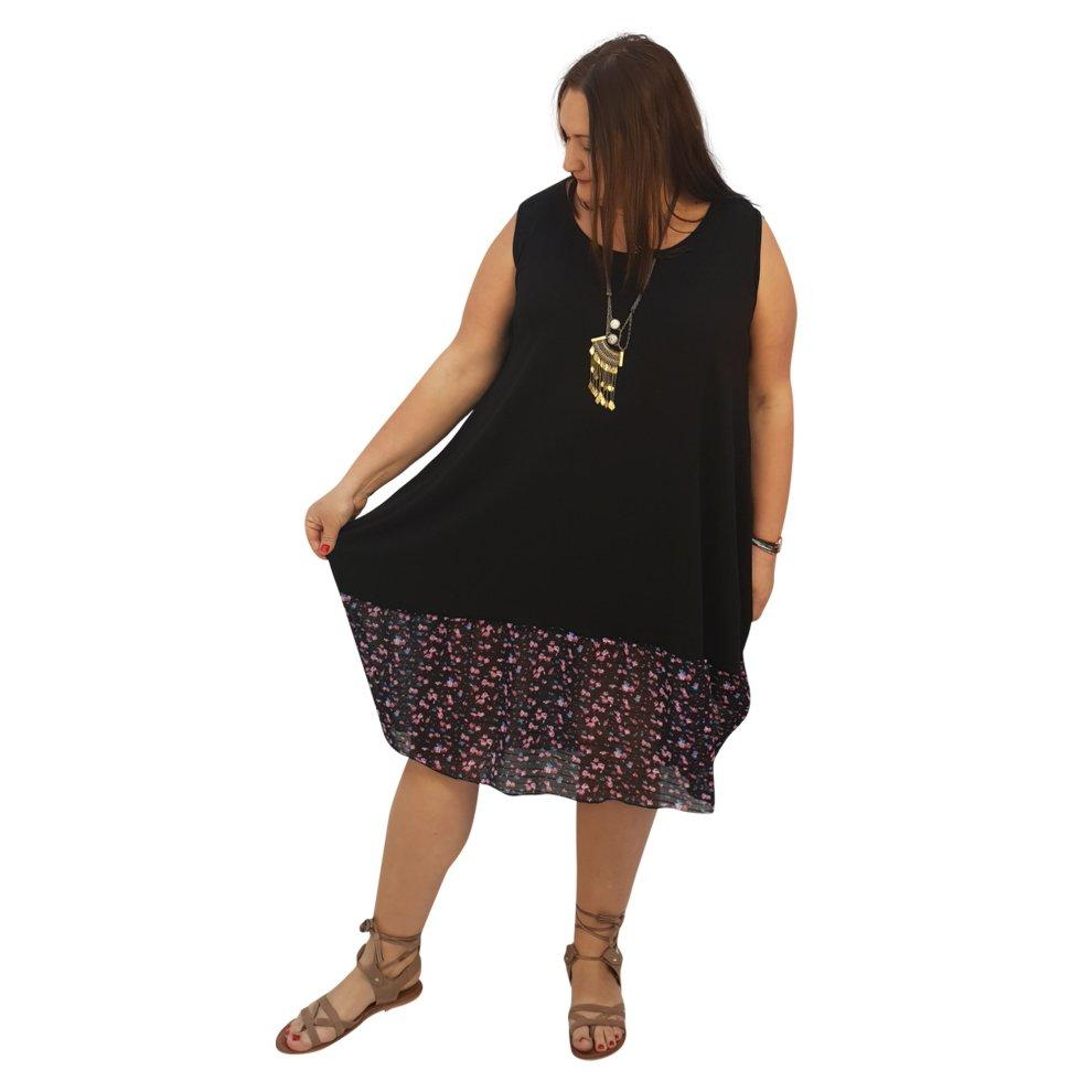 decfdc56c9 ... Women's plus size midi dress for beach summer holiday plain or chiffon  frill floral aztec tribal. >