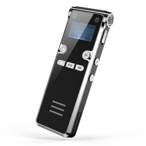 Digital Voice Recorder, Dr.meter 8GB Memory Audio Recorder Supports 32GB TF Card with 15m/49.2ft Recording Distance and MP3 Function Sound Recorder...