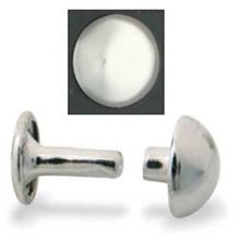 10mm Nickel Plate Domed Rivets -  10mm nickel plate domed rivets plated 100 pk leathercraft tandy