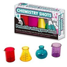 Funtime Gifts Plastic Chemistry Shots Glasses , Multi-colour, Set Of 4 -