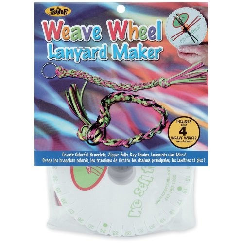 Weave Wheel Lanyard Maker 4/Pkg-