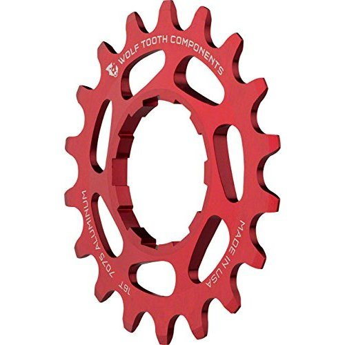 Wolf Tooth Components Single Speed Aluminum Cog 18T Fits 3 32 Chains Red
