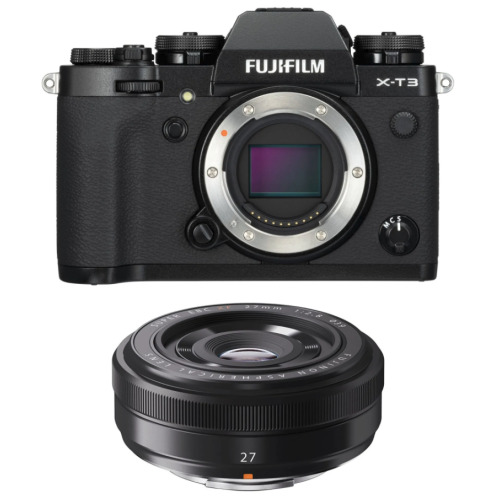 FUJI X-T3 Black + XF 27MM F2.8 Black