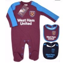 West Ham United Baby T-shirt & Shorts Set | 17/18 (18-24 Months) - Shirt 18 23 -  west ham united shirt shorts set 18 23 months 1718 gift official