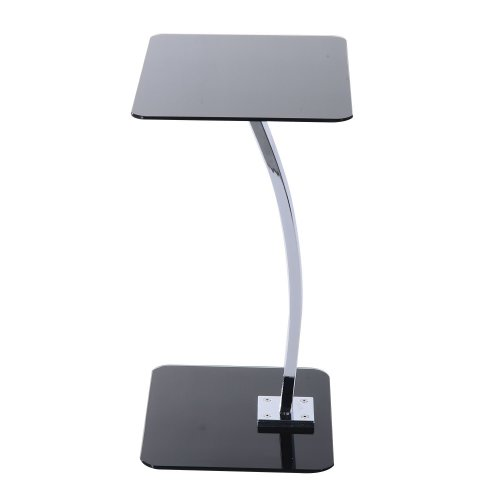 Homcom Portable Laptop Stand | Glass & Metal Side Table