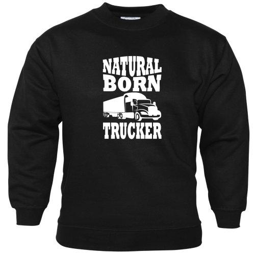 (S) Natural Born Trucker Unisex Sweatshirt Lorry Driver Cab Accessories Lorries