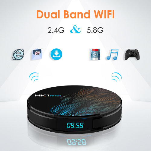 Android 9.0 TV Box,   Quad-core Cortex-A53 4K Full HD Output