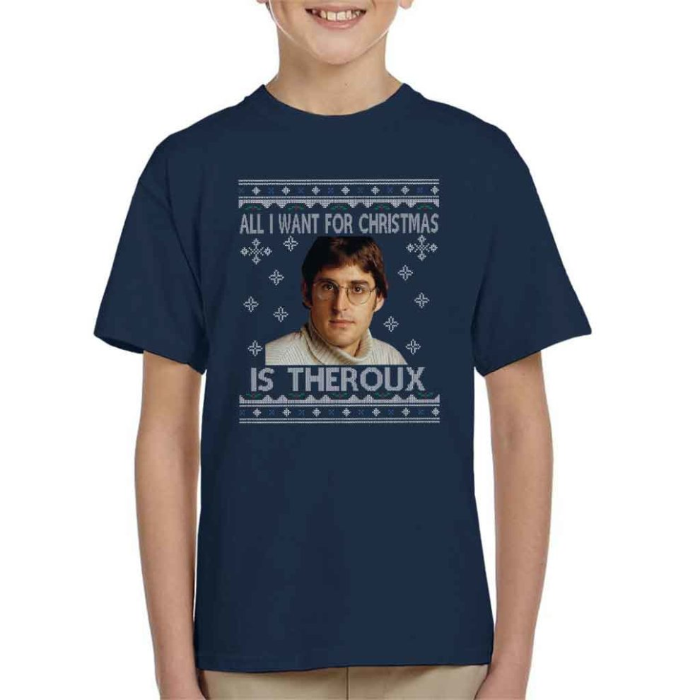 26cef4ed3104 All I Want For Christmas Is Louis Theroux Knit Pattern Kid's T-Shirt on  OnBuy