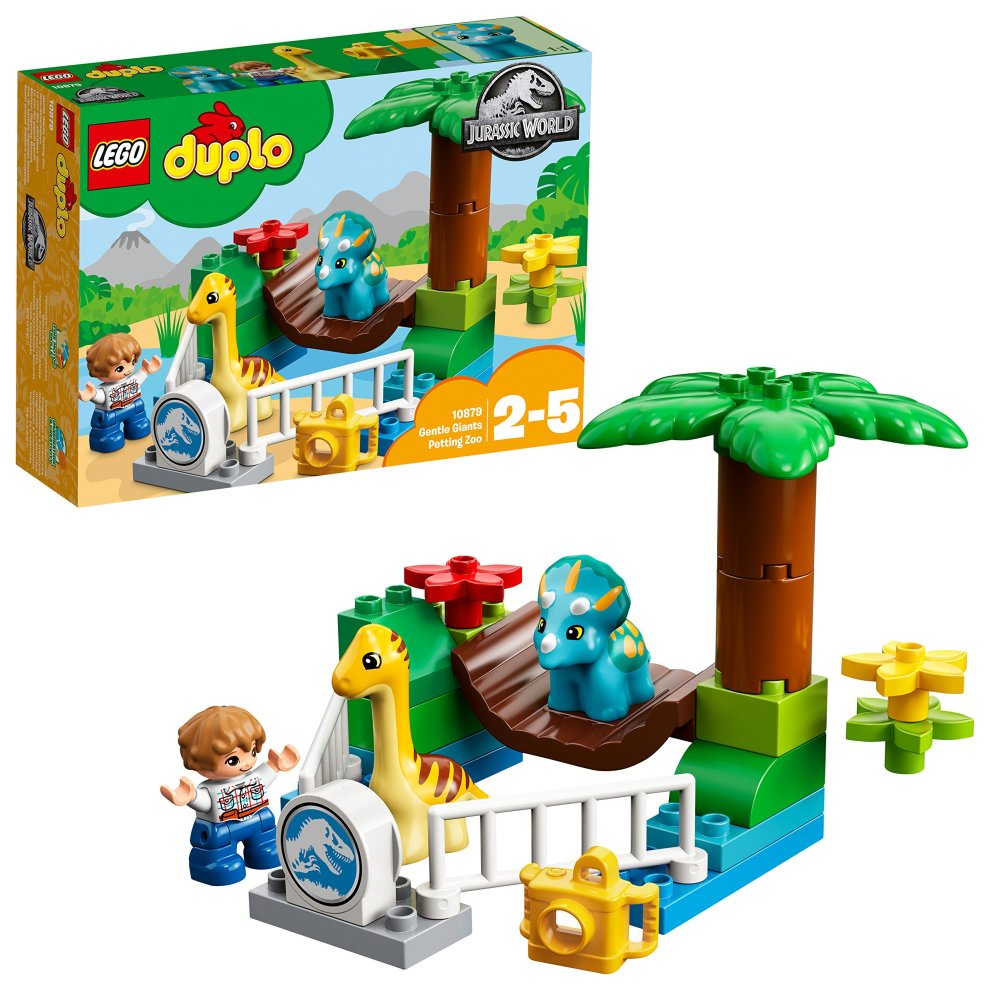 Lego Uk 10879 Duplo Jurassic World Gentle Giants Petting Zoo Set On
