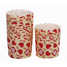 Heat-Resistant Baking Cups Cupcake Cups Muffin Cups, 40Pcs[Loving Heart]