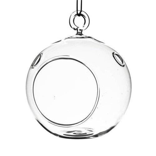 Athenas Garden HCH0107 7 in. Clear Round Hanging Terrarium Globe