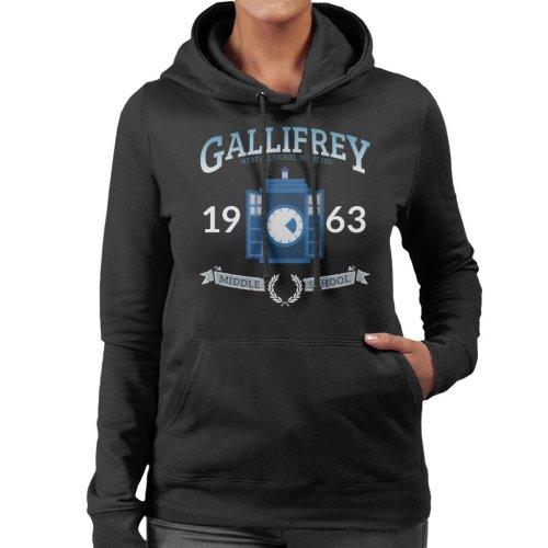Gallifrey Middle School Doctor Who Women's Hooded Sweatshirt