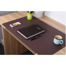 TPU Desktops Mate with Lip - Mouse/Writing/Typing Pad - Desk Protector for Offfice & Home - Laptops Desk Mat - Brown