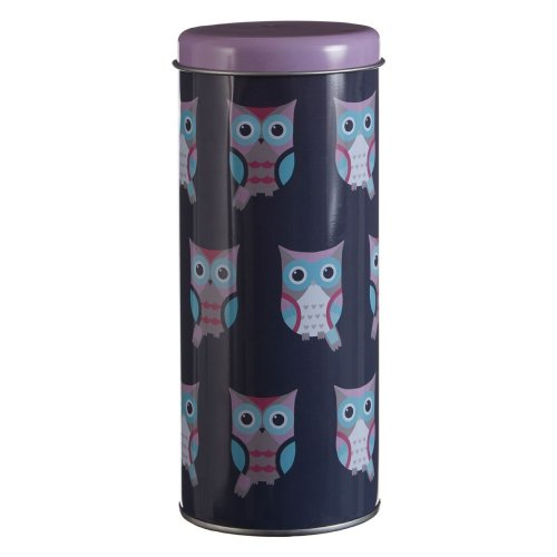 Happy Owls Storage Canister, Blue