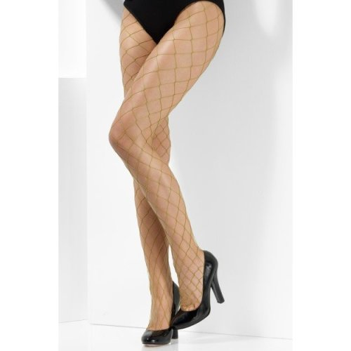 Diamond Net Tights -  large diamond fishnet tights ladies fancy dress accessory one size