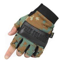 Digital Camo Fingerless Mountain Climbing Gloves Climbing Gear Glove, M