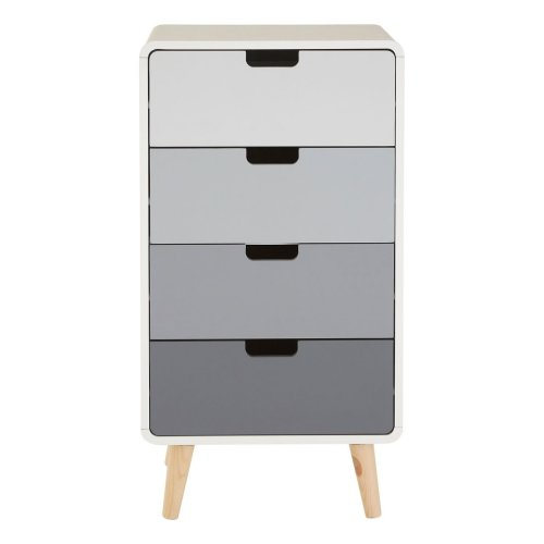 Milo 4 Drawer Cabinet - Grey & White Gradient
