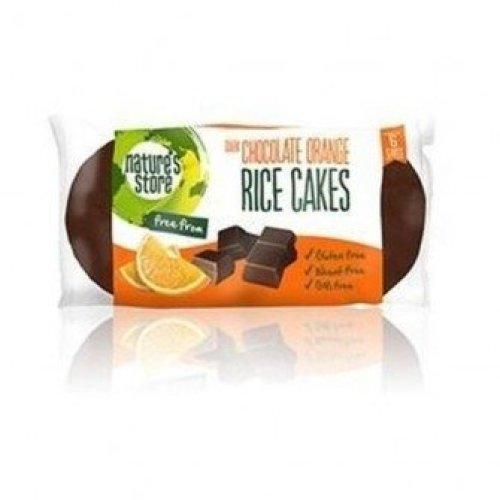Natures Store - Dark Choc Orange Rice Cake 100g