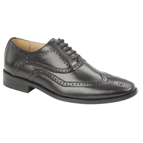 Goor Boys Brogue Shoe Black