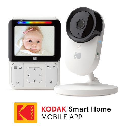 "KODAK Cherish C220 Video Baby Monitor - 2.8"" HD Screen & Mobile App"