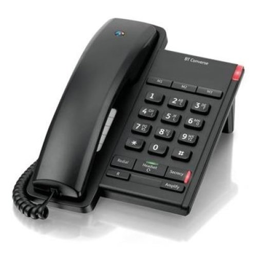 BT Converse 2100 Corded Telephone, Black