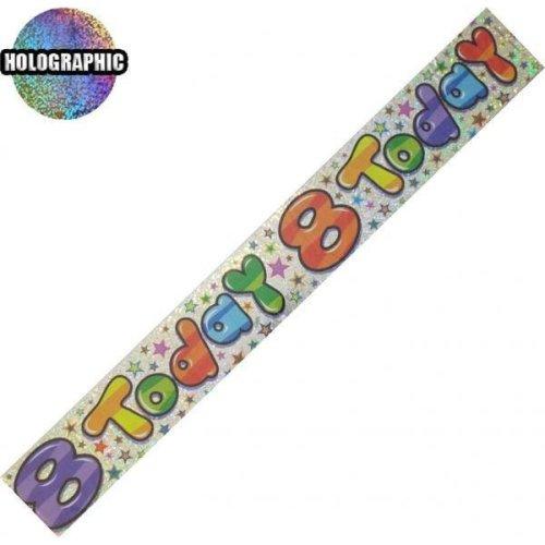 Age 8 Birthday Banner Unisex