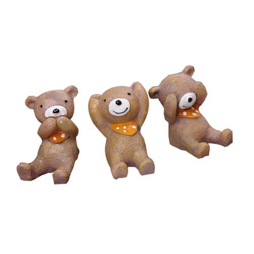 Set of 3 Unique Animal Decoration Good Gift for Kids,1.6''