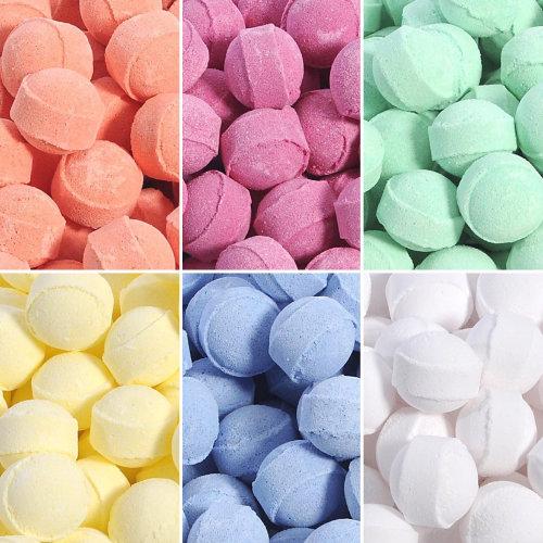 Mini Bath Bombs, Chill Pills, Bath Marbles.