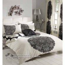 Manhatten cream/black duvet cover bedding set