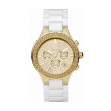 DKNY ChronoNY8260 Women's Stainless Steel Case Gold Quartz Dial Watch