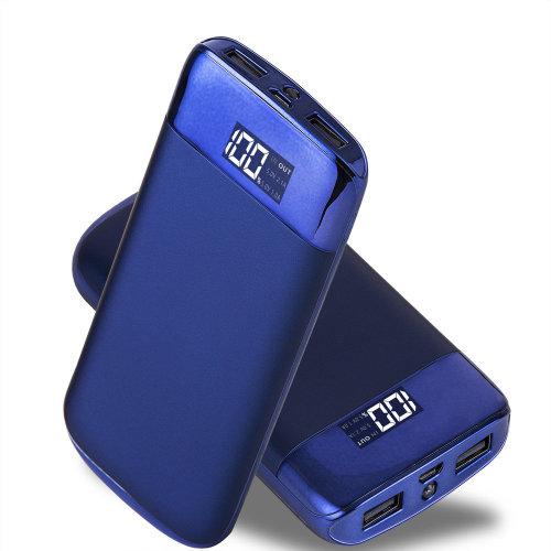 ARIO®20000mAh PowerBank for fast charging of all mobile phones (Blue)