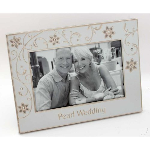 "Pearl Wedding 30th Anniversary 6"" x 4"" Photo Frame"