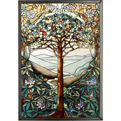 "Glassmasters GM1010 9 ¼"" x 13 ¼"" Tiffany Tree of Life Suncatcher"
