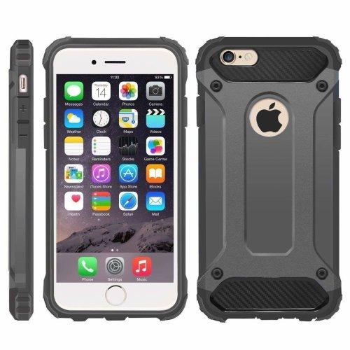 (Grey) iPhone 6/6S Case, Hybrid Heavy Military-Duty Case