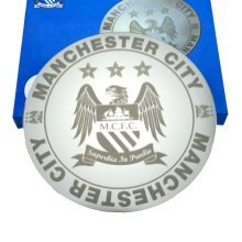 Manchester City Etched Mirror -  manchester city mirror fc new licensed product official football gift