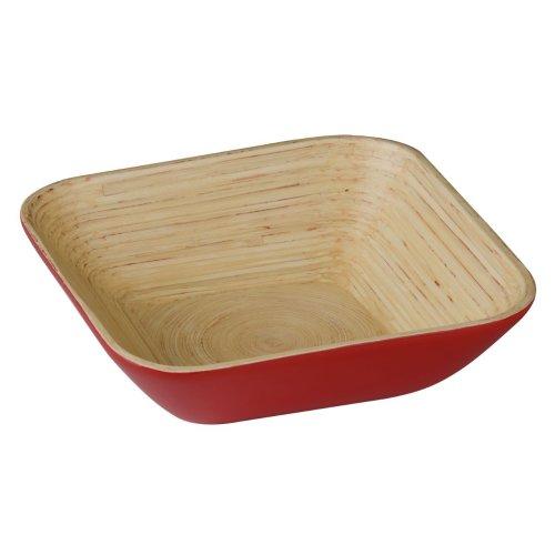 Kyoto Spun Bamboo Salad Bowl, Red