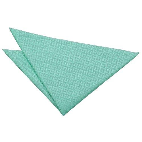 Mint Green Greek Key  Pocket Square