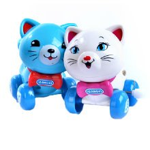 Set of 2 Cute Animals Wind-up Toy for Baby/Toddler/kids, Cat(Style Random)