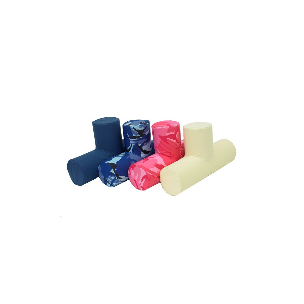 (Pink Camouflage) T-Roll Leg Positioning Aid - Leg Support Cushion. Size Large